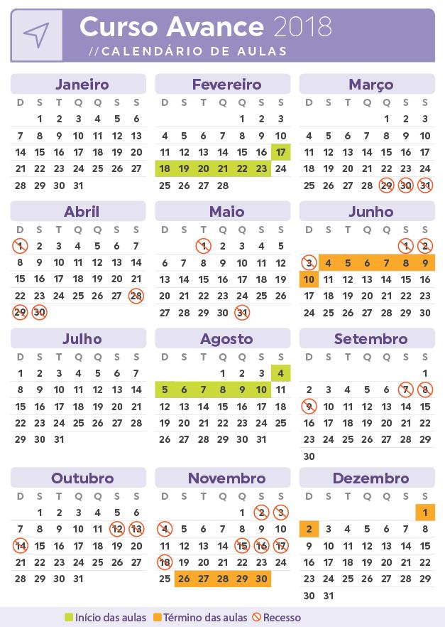 Calendario Avance
