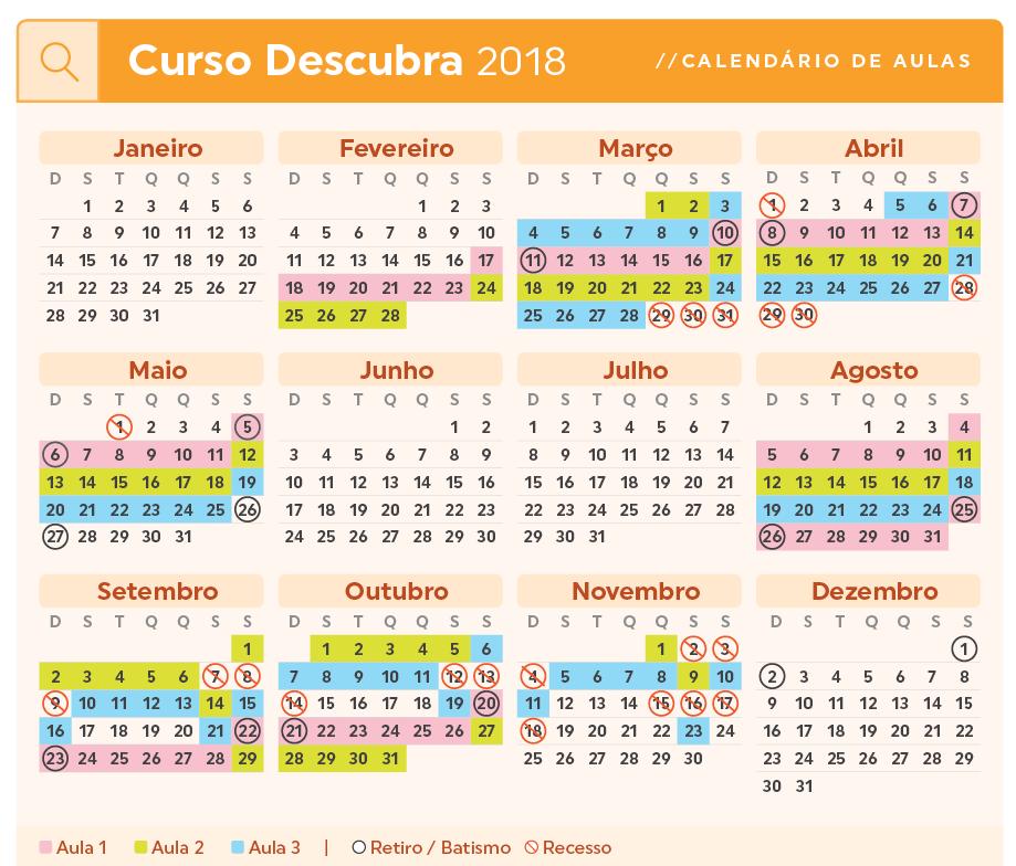 Calendario Descubra